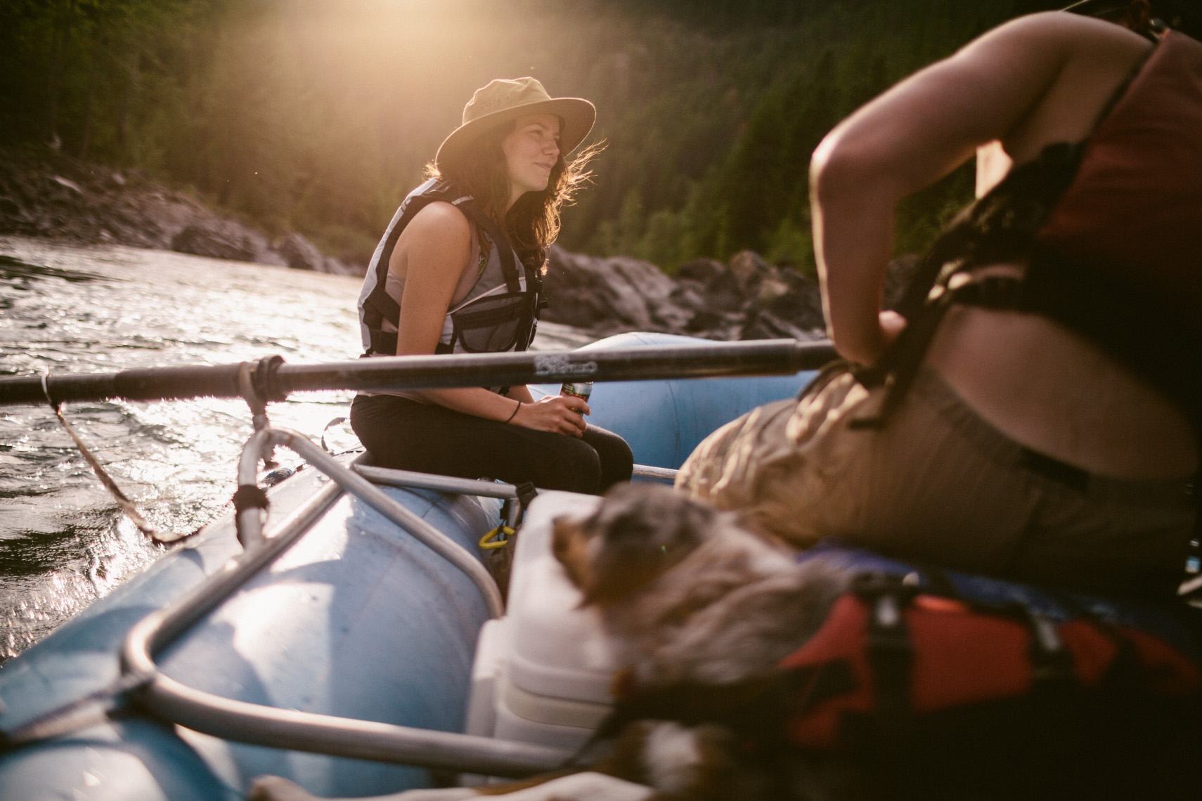 Adventure and outdoor lifestyle photogaph by Forest Woodward rafting in Glacier National Park