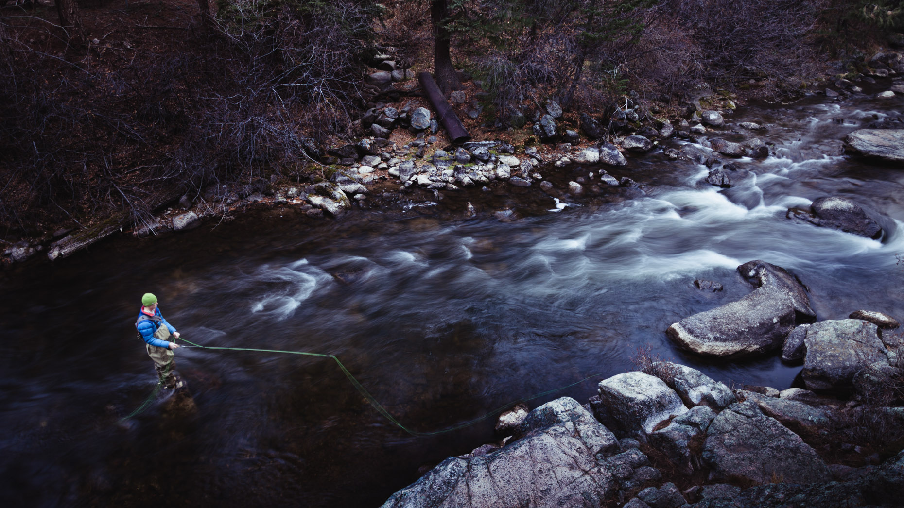 Adventure Photography by Forest Woodward fly fishing in Colorado
