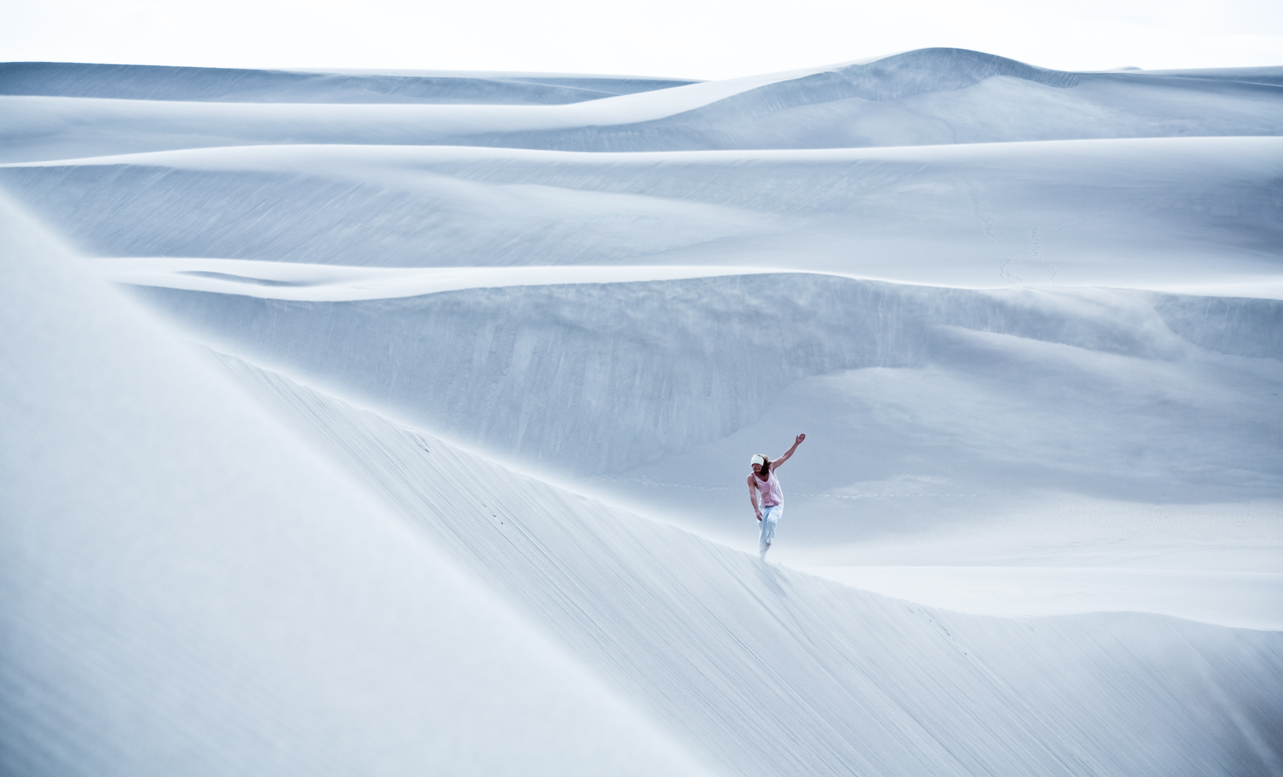 Adventure and outdoor lifestyle photogaph by Forest Woodward self portrait in Great Sand dunes national Park Colorado
