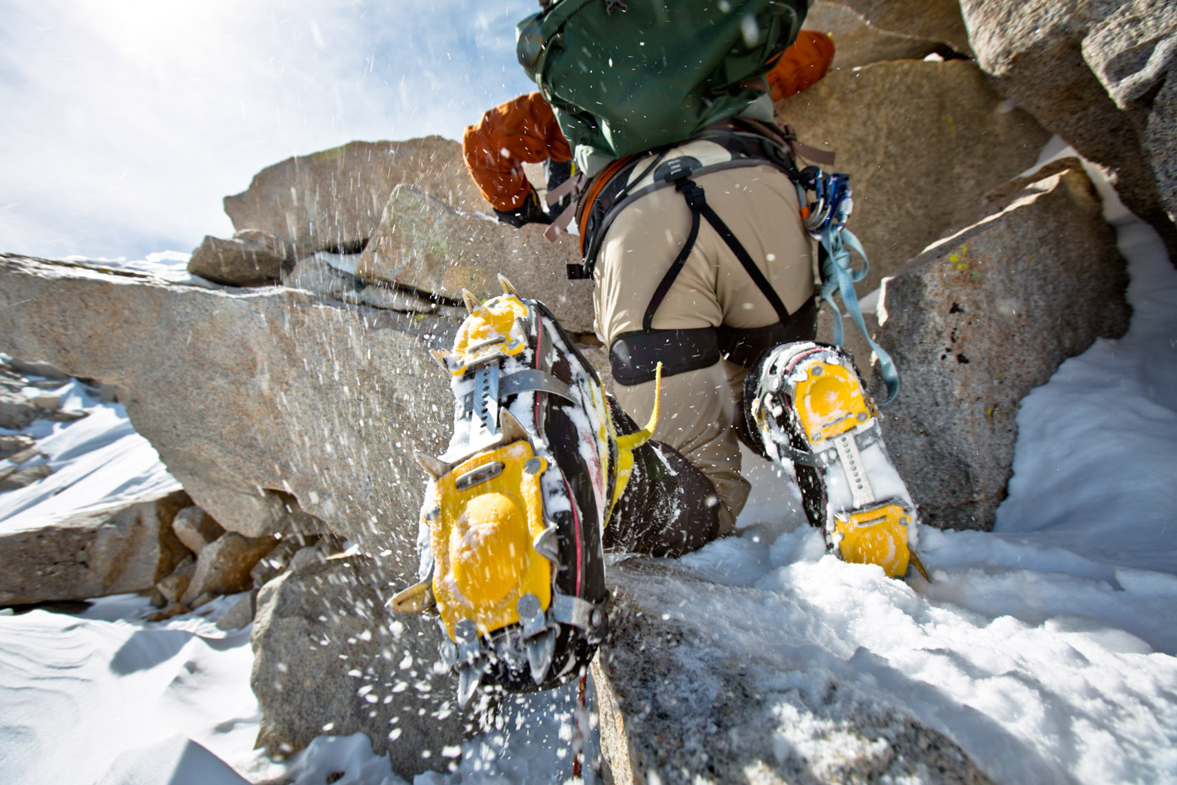 Rock climber on Mt Whitney USA photo forest Woodward