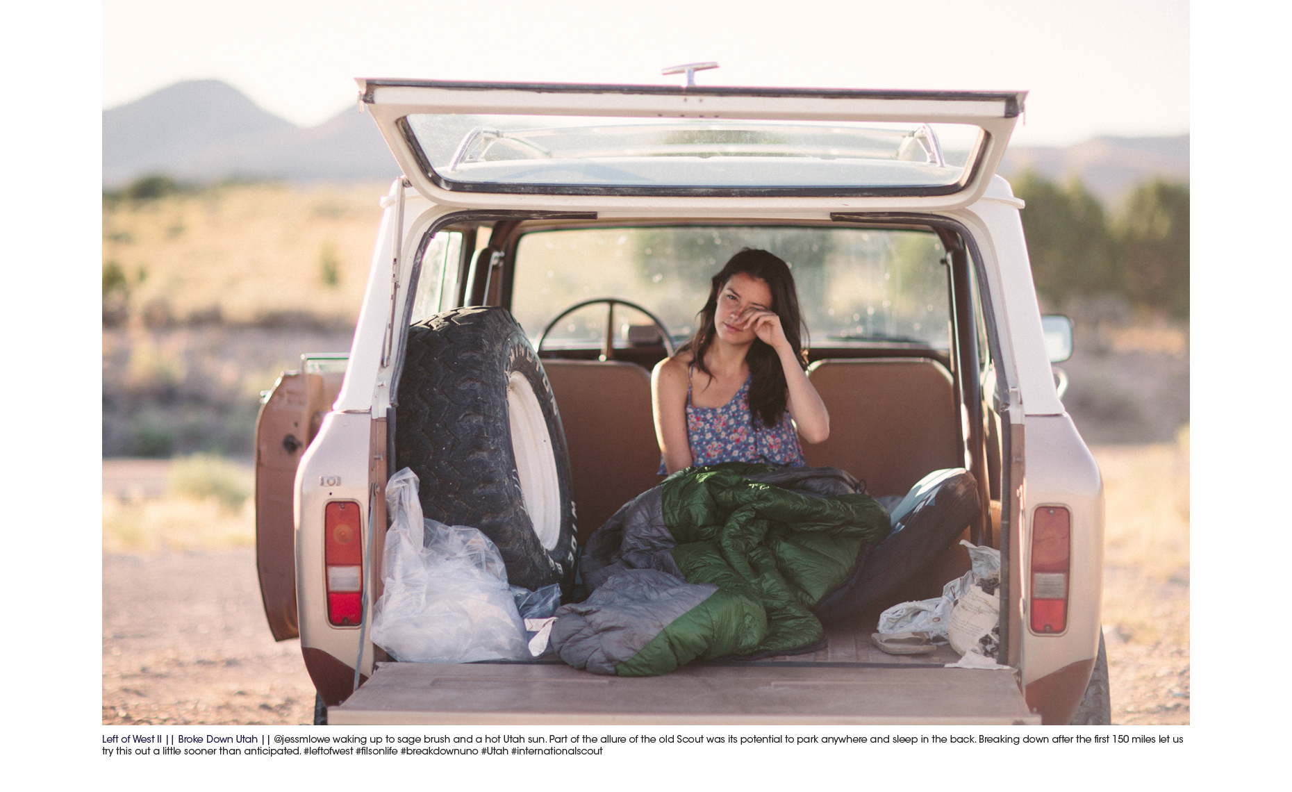 Road trip in International Scout through Montana photographs by Forest Woodward for Filson Life