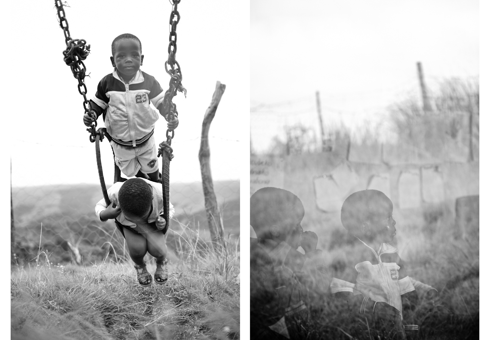 Children in the rural Transkei region of South Africa photograph by Forest Woodward