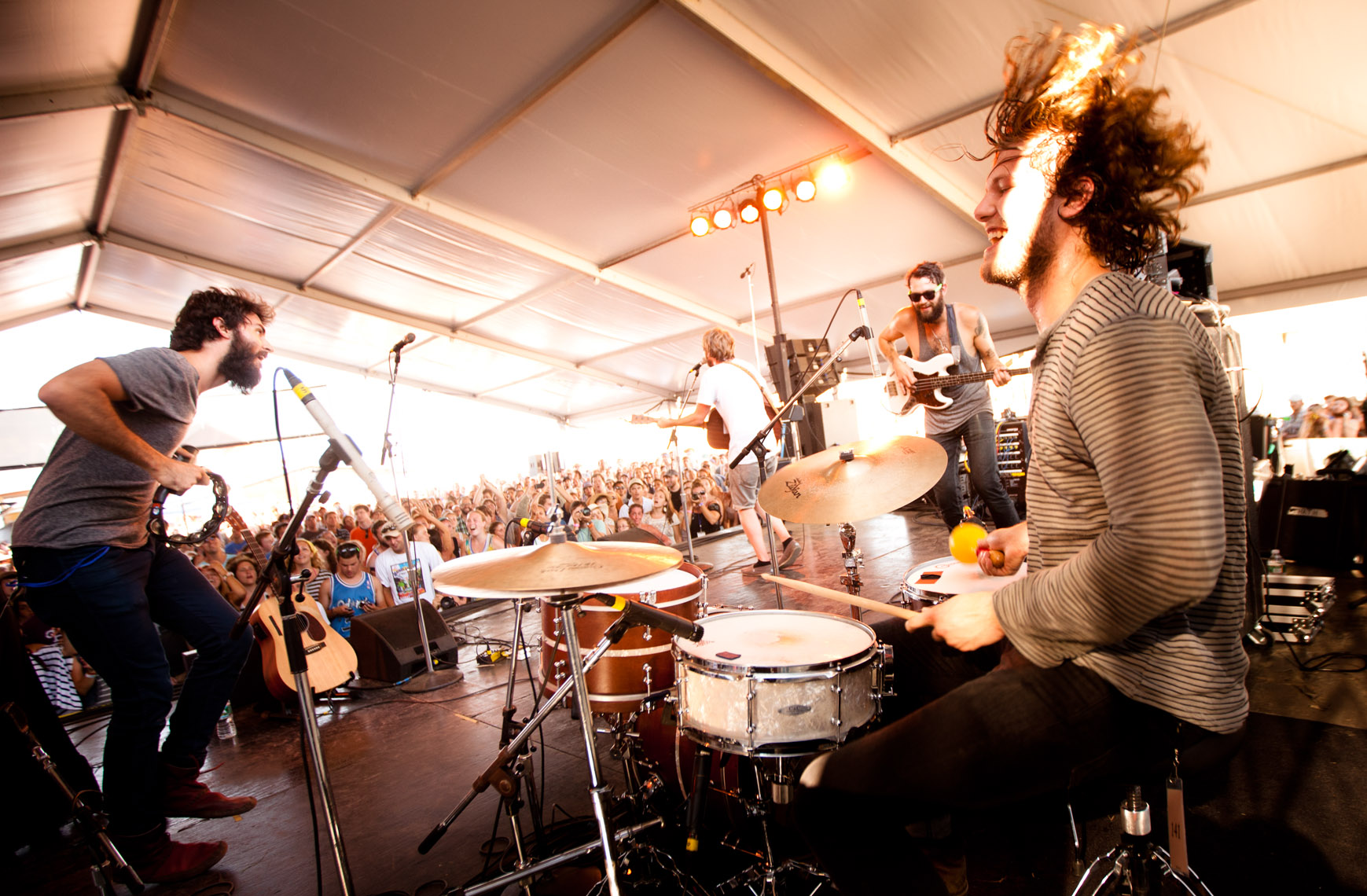 The Head and the Heart at Newport Folk Festival photogaph by Forest Woodward