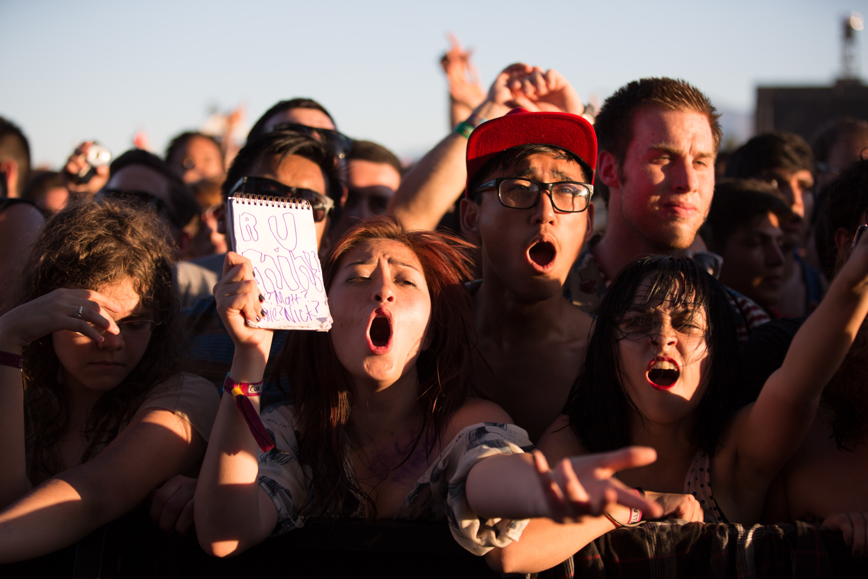 Crazy music fans at Coachella photographed by Forest Woodward for the music festival