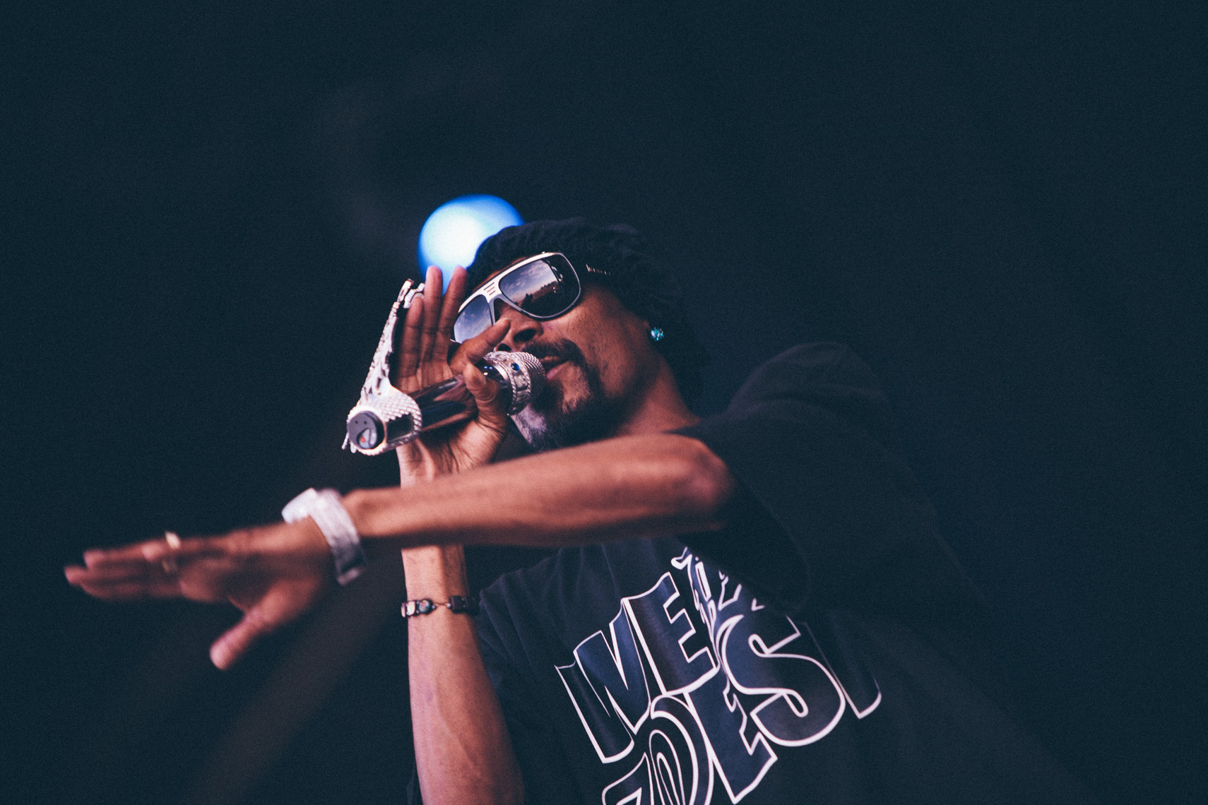 Snoop Dog at Bonnaroo music festival photographed by Forest Woodward