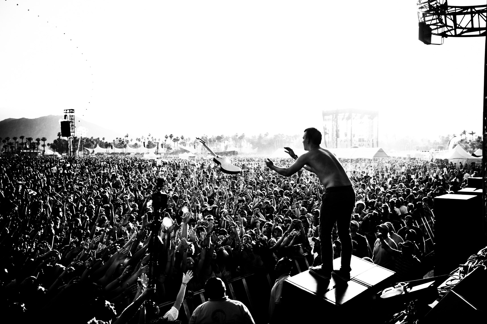 Cage the Elephant at Coachella music festival by Forest Woodward photograph