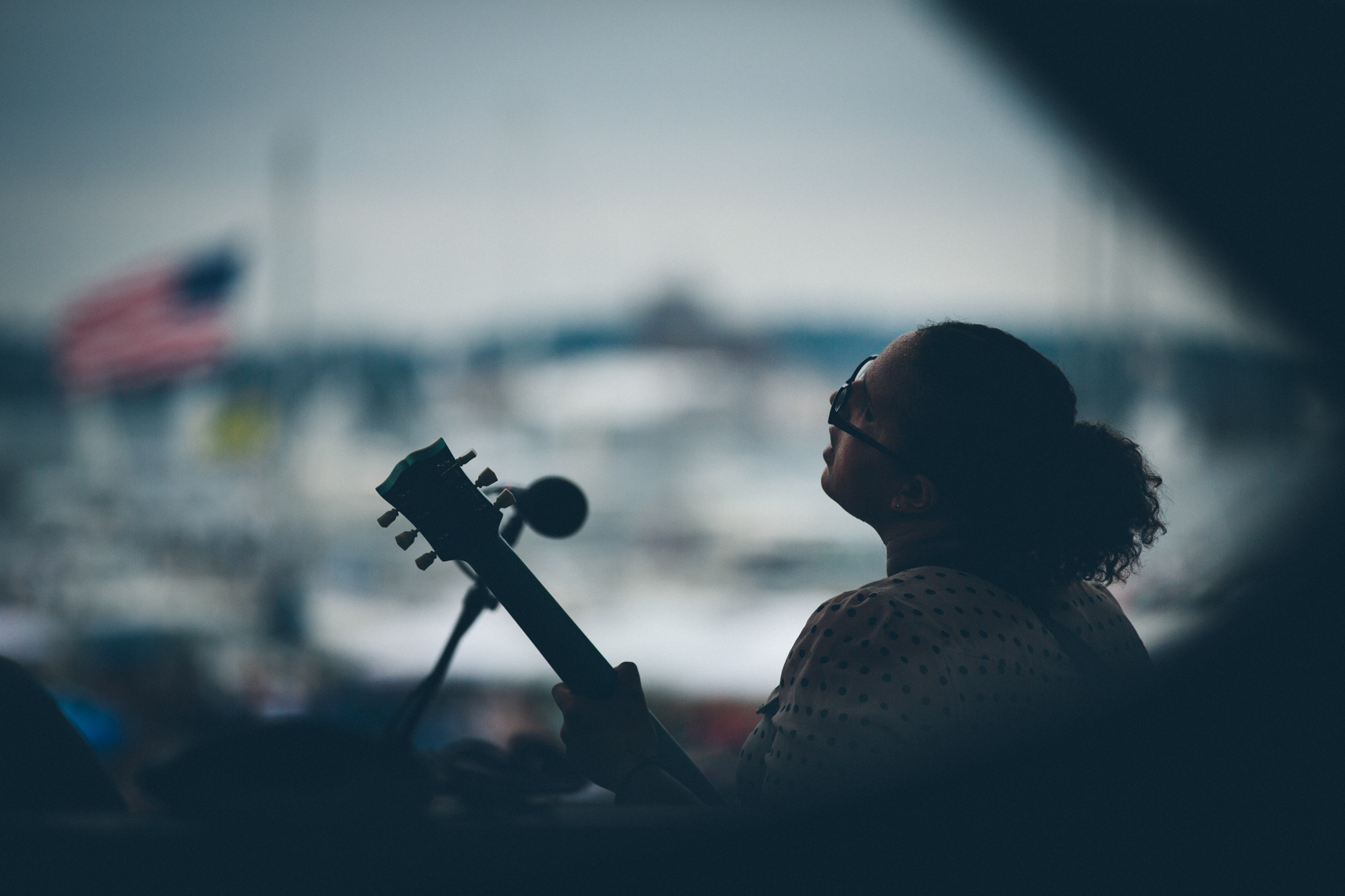Brittany of Alabama Shakes at Newport Folk Festival photographed by Forest Woodward