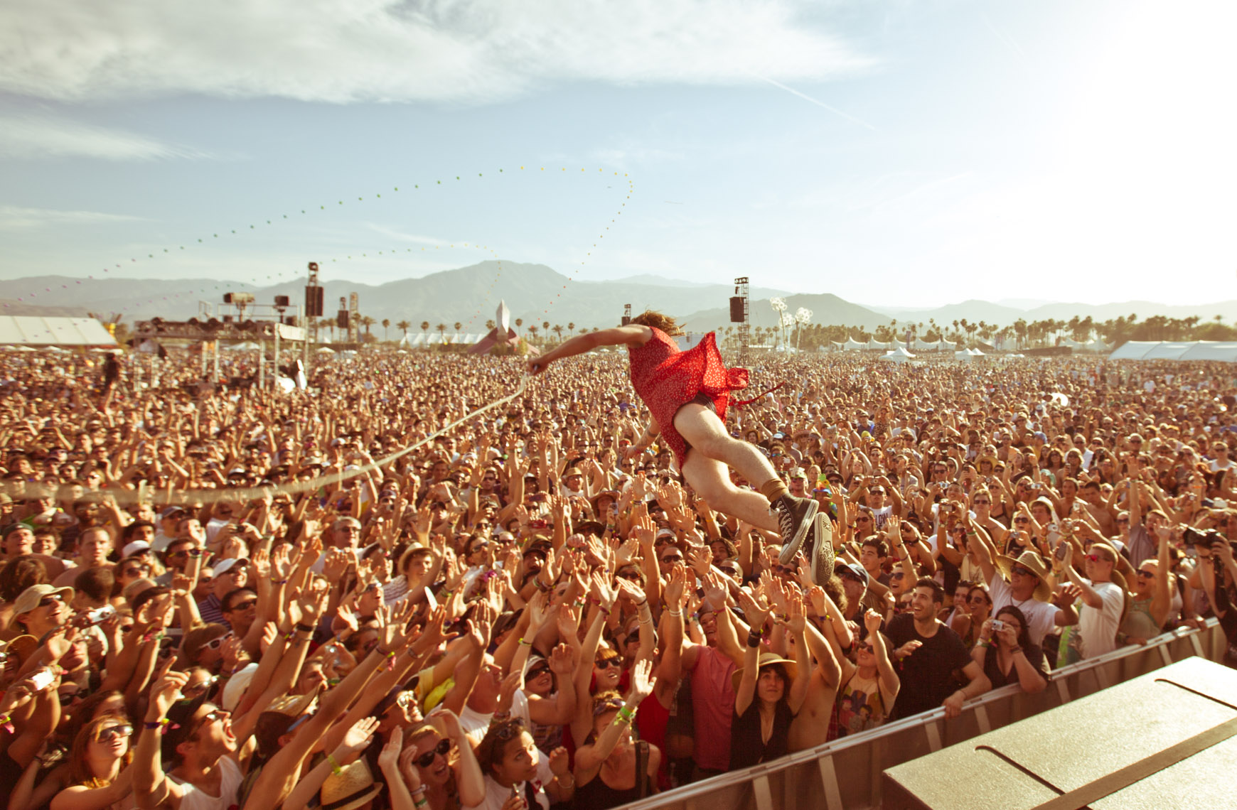 music-Cage the Elephant at Coachella music festival by Forest Woodward photograph